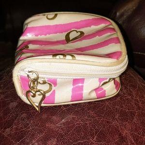 Victoria's Secret Signature Pink/White Striped Bag